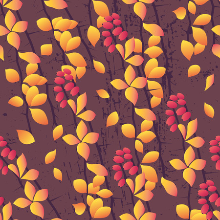 brushwood: Seamless autumn pattern Illustration
