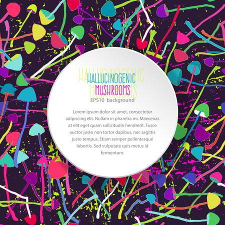 hallucinogenic: Hallucinogenic mushrooms seamless background