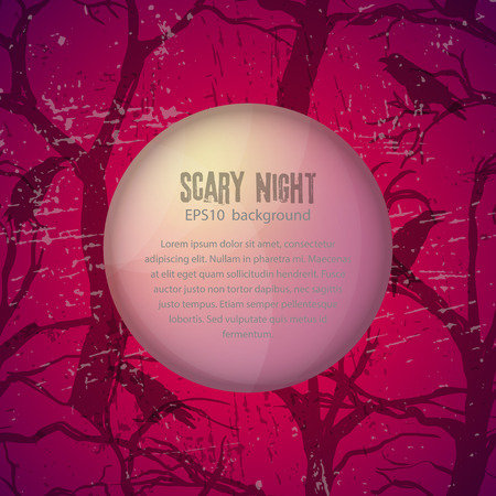 Scary night vector background Vector