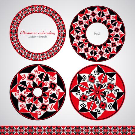 ukrainian: Ukrainian embroidery pattern brush Illustration