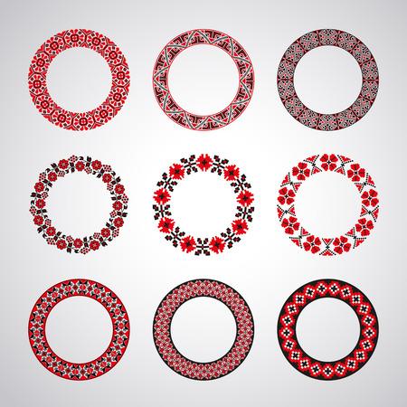 ukrainian: Ukrainian embroidered round motifs