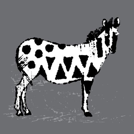 vectored: Vectored hand drawn zebra illustration Illustration