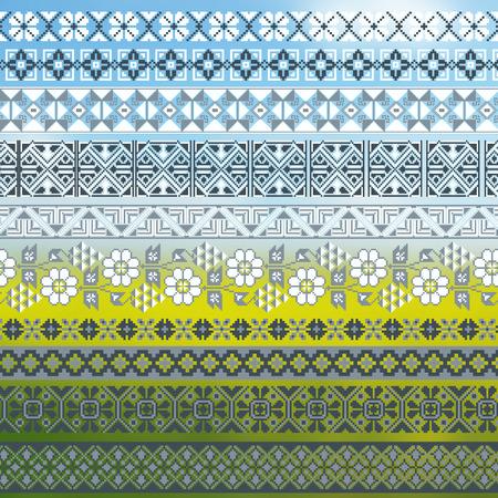 embroidered: ukrainian embroidered borders