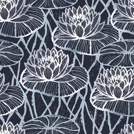 lotus pattern: Ink lotus pattern Illustration