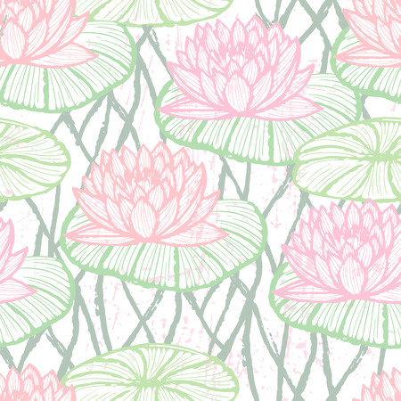 lotus pattern: Ink drawn lotus pattern