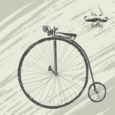 velocipede: Ink  french bicycle
