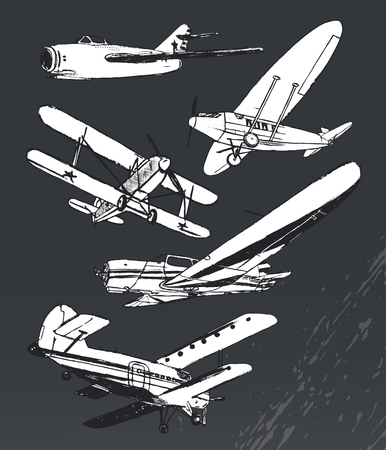 supersonic plane: Ink old airplanes