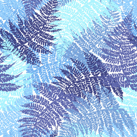 fronds: Fern seamless pattern