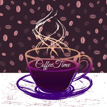 coffeetime: Coffeetime ink hand drawn illustration Illustration