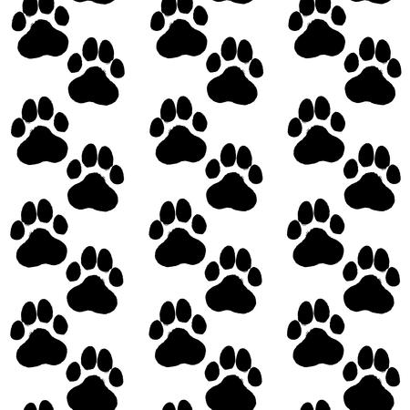 Motif de patte de chien dessinés à la main d'encre.
