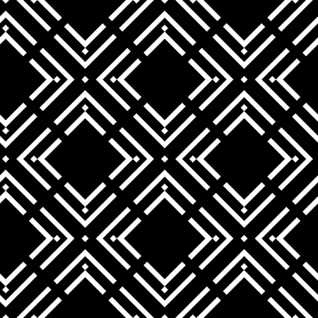 Seamless monochrome design with traditional geometric pattern used in embroidery and other applied arts