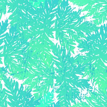 Hand-drawn plants on white background Vector design
