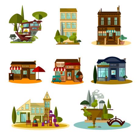 Shop and house set