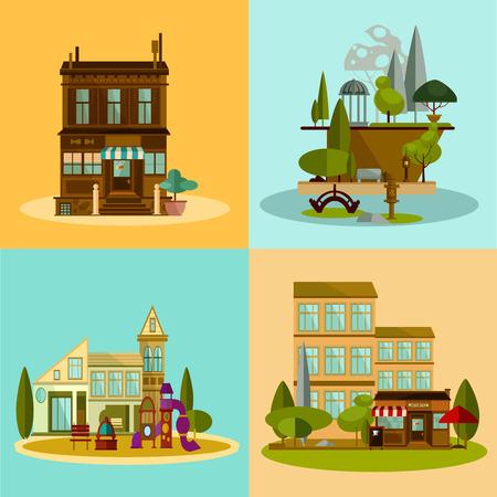 Shop and buildings set