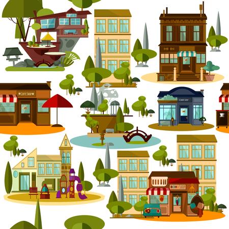 Seamless modern urban pattern Vectores