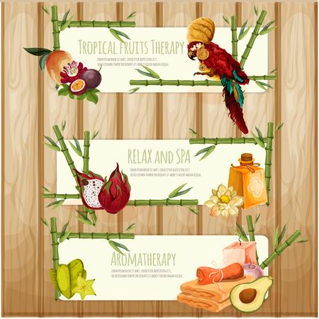 aromatherapy: Spa and aromatherapy illustration Illustration