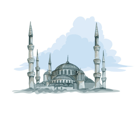 istanbul: Blue mosque in Istanbul
