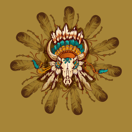mistic: Tribal indian graphic vector