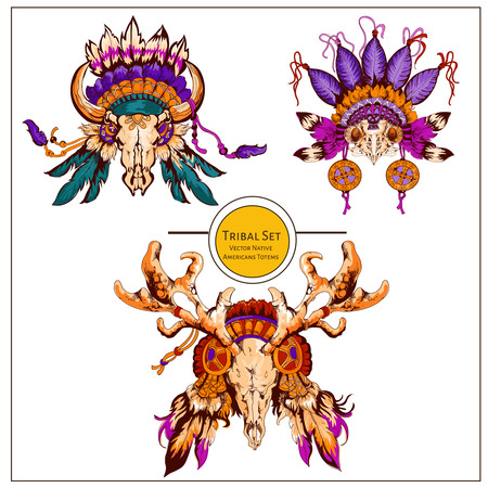 graphic: Tribal indian graphic vector