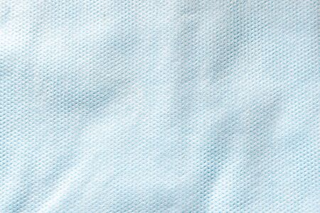 Texture of blue non-woven material for the manufacture of disposable protective medical clothing
