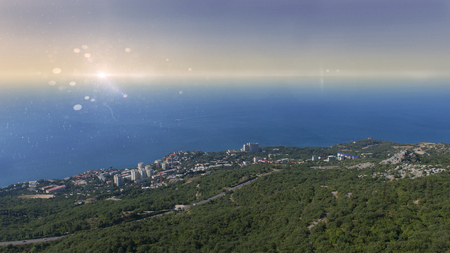 Foros landscape view. Crimea. Stock Photo