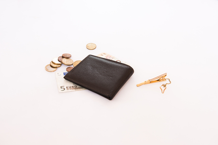 Purse with small change for small expenses