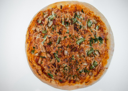 handmade italian pizza isolate on white background