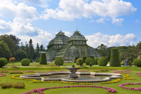 schonbrunn palace: The PalmHouse in the Garden of schonbrunn palace