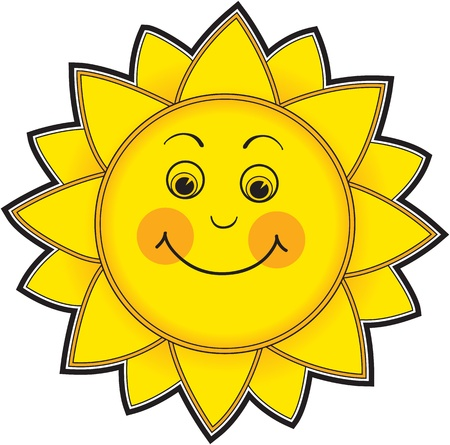 Smiling hand drawn sun Stock Photo - 9171265