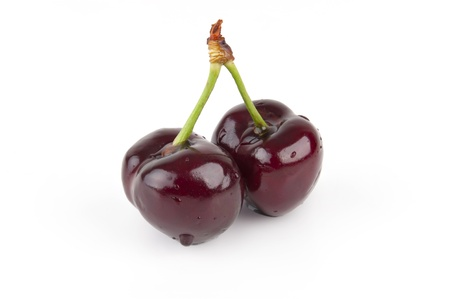 Isolated Red Cherries Stock Photo - 9923848