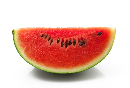 fresh watermelon in white background Stock Photo
