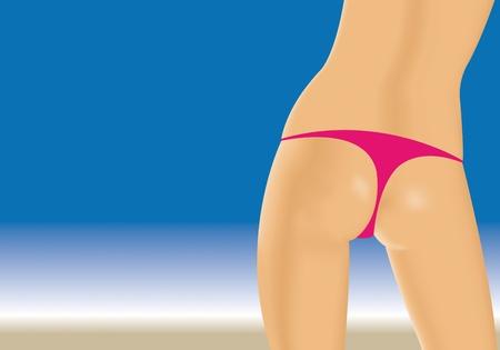 girl at beach Stock Vector - 10513595