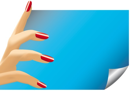fingers of woman photo