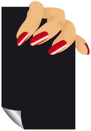 cartel: fingers of woman