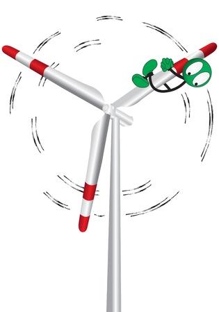 wind turbine: �olienne sur un fond blanc