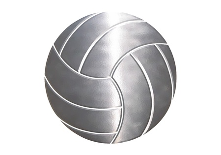 volley ball: sport balls in white background Stock Photo