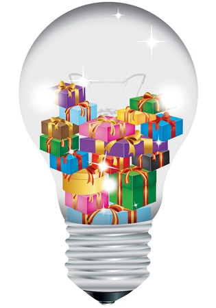 Christmas bulb on a white background Vector