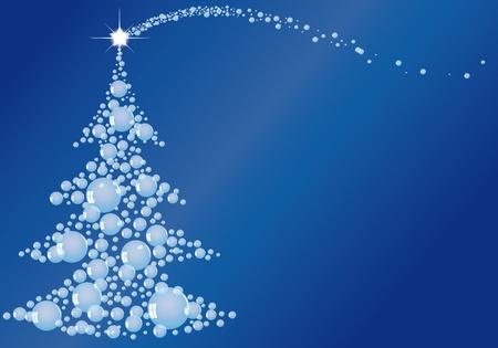 ilustraci�n de la magia del �rbol de Navidad Vectores