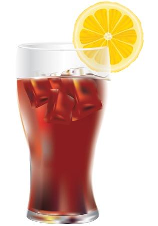 bebida fresca con rodaja de lim�n