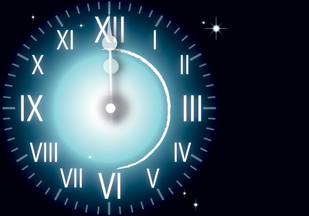 watch new year: illustration of watch New Year