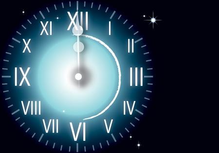 ilustraci�n de A�o nuevo reloj