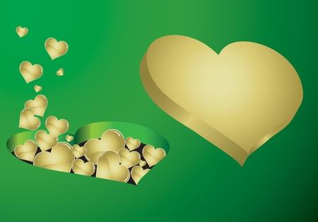 heart gold Vector