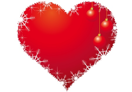 Christmas heart Vector