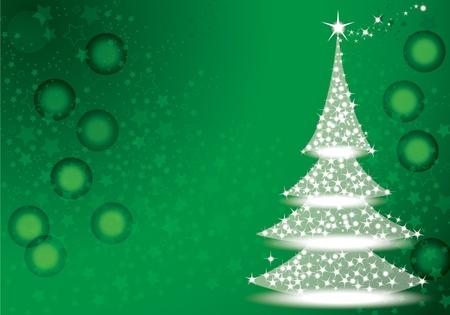 ilustraci�n de la magia del �rbol de navidad