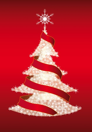 illustration of magic Christmas tree Vector