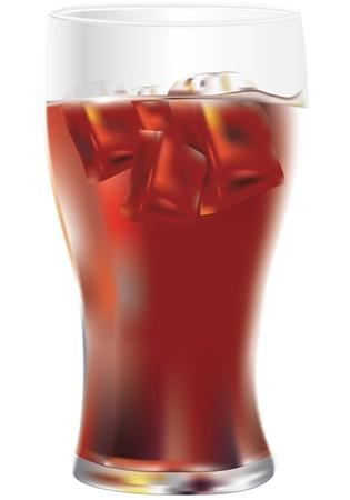 boisson fra�che sur un fond blanc