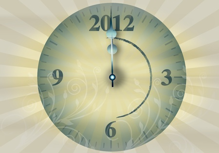 2012 New Year's Eve on a white background Stock Photo - 11421986