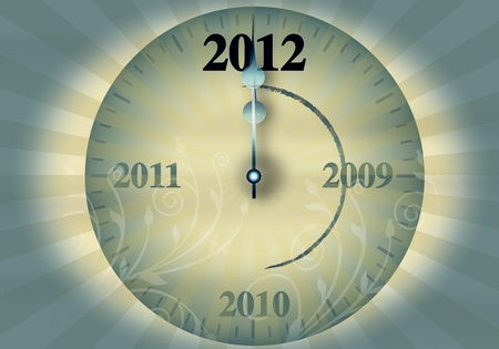 2012 New Year's Eve on a white background Stock Photo - 11421989