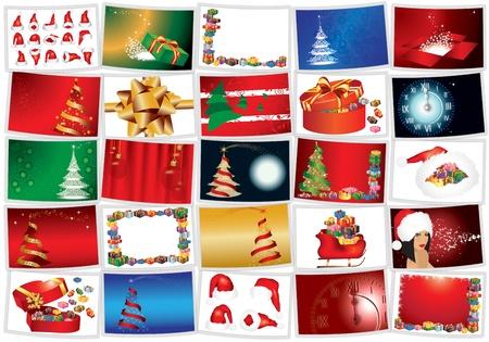 Navidad en una ilustraci�n de fondo blanco