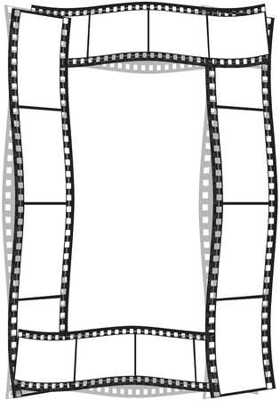 film strip on a white background photo